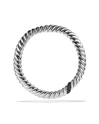 David Yurman - Hampton Cable Necklace With Black Diamonds - Lyst