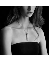 David Yurman | Metallic Osetra Tassel Necklace With Rhodalite Garnet, 13mm | Lyst