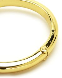 Juicy Couture | Metallic Juicy Crown Bangle | Lyst