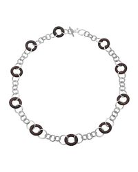 John Hardy | Metallic Rosewood-Station Silver Sautoir Link Necklace | Lyst