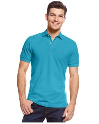 Tommy Hilfiger   Blue Custom-fit Ivy Polo for Men   Lyst