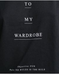 Zara | Black Text T-shirt | Lyst