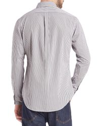 Polo Ralph Lauren - Gray Bengal-striped Poplin Sportshirt for Men - Lyst