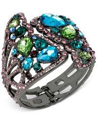 Betsey Johnson | Gray Hematite-tone Crystal Butterfly Wing Cuff Bracelet | Lyst