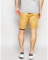 ASOS - Natural Slim Chino Shorts In Camel for Men - Lyst
