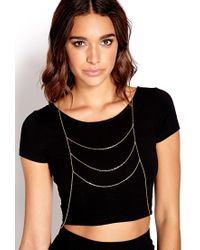 Forever 21 | Metallic Simply Stated Draped Bodychain | Lyst