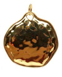 Monica Vinader - Metallic Extra Large Riva Gold Vermeil Pendant - Lyst