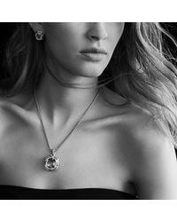 David Yurman - Metallic Labyrinth Medium Pendant With Diamonds - Lyst