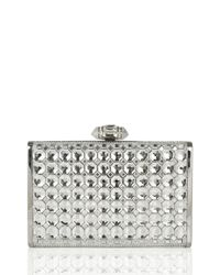 Judith Leiber Couture - Metallic Slender Faceted Crystal Clutch Bag - Lyst