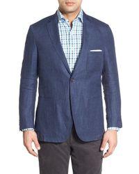 Peter Millar - Blue Regular Fit Linen Sport Coat for Men - Lyst