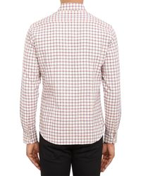 Brooklyn Tailors - Natural Flecked Check Flannel Shirt for Men - Lyst