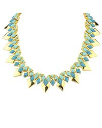 Noir Jewelry | Green Rising Sun Necklace | Lyst