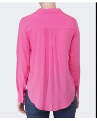 Velvet By Graham & Spencer | Pink Delores Challis Blouse | Lyst