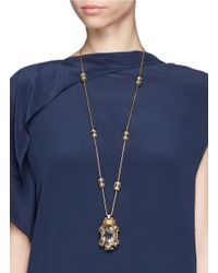 Erickson Beamon - Metallic 'damsel' Crystal Pendant Station Necklace - Lyst