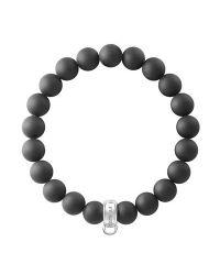 Thomas Sabo | Black Charm Club Matt Obsidian Bracelet | Lyst