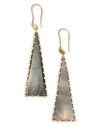 Lana Jewelry - Black 'mystiq' Triangle Drop Earrings - Lyst