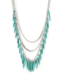 Forever 21 | Blue Layered Faux Turquoise Necklace | Lyst