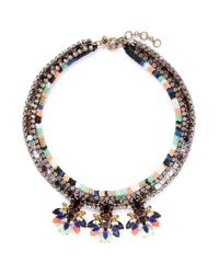 J.Crew | Multicolor Stone Burst Necklace | Lyst