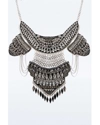Urban Outfitters | Metallic Taza Leather And Bead Necklace | Lyst