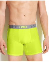Under Armour | Yellow Men's Iso-chill 6-inch Boxerjocks for Men | Lyst