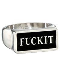 Huf - Metallic F*** It Ring - Lyst
