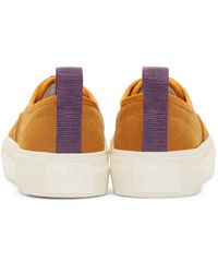 Eytys - Orange Camel Suede Mother Sneakers - Lyst