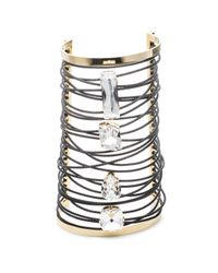 Alexis Bittar - Metallic Large Cable Wrapped Crystal Cuff You Might Also Like - Lyst