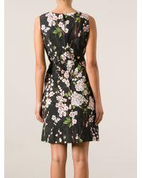 Dolce & Gabbana - Black Floral Print Dress - Lyst