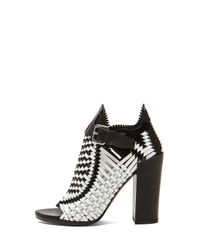 Proenza Schouler - White Woven Open Toe Leather Heels - Lyst