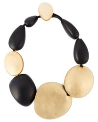 Monies - Black Oversized Beads Necklace - Lyst