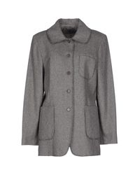 Liu Jo - Gray Coat - Lyst
