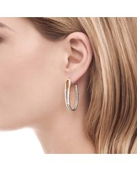 John Hardy - Metallic J Hoop Earring - Lyst
