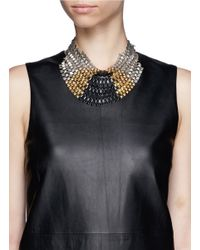 Ela Stone | Metallic Freja Pyramid Chain Plastron Necklace | Lyst