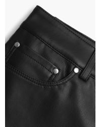 Mango - Black Zipped Hem Trousers - Lyst