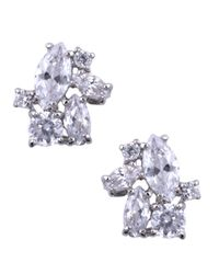 Givenchy | Metallic Crystal Cluster Stud Earrings | Lyst
