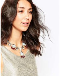 Oasis | Blue Deco Fan Collar Necklace | Lyst