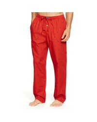 Polo Ralph Lauren | Red Allover Pony Sleep Pant for Men | Lyst