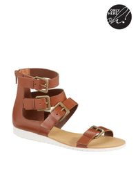 424 Fifth | Brown Zain Gladiator Sandals | Lyst