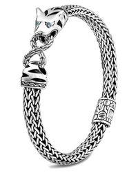 John Hardy - Metallic Classic Chain Pave Diamond Macan Kick Cuff - Lyst