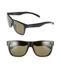 Smith Optics - Black 'lowdown' 56mm Polarized Sunglasses for Men - Lyst