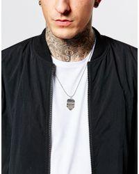 ASOS   Metallic Aztec Pendant Necklace In Silver for Men   Lyst