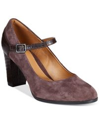 Clarks | Brown Collection Women's Bavette Cathy Mary Jane Pumps | Lyst
