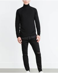 Zara | Black Skinny Jeans With Frayed Hem for Men | Lyst