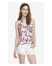 Express - Multicolor Impatiens Garden Sleeveless Portofino Shirt - Lyst