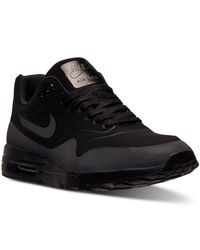 Nike - Black Women's Air Max 1 Ultra Moire Running Sneakers From Finish Line - Lyst