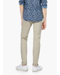 Mango - Natural Slim-fit Cotton Chinos for Men - Lyst