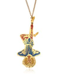 KTZ - Metallic Hanged Man Brass Necklace - Lyst