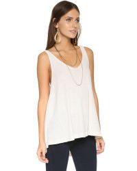 Free People | Natural Kitten Tank | Lyst