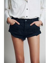 Free People | Blue Bandit Denim Cutoffs | Lyst