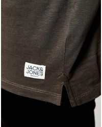 Jack & Jones - Gray Longline T-shirt for Men - Lyst